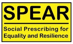Social prescribing for equality and resilience logo