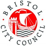 Bristol City Council logo red castle with boat on water