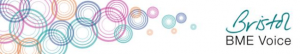 Multi coloured circles Bristol BME Voice logo