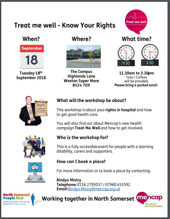 Poster giving details of the workshop 18 Sept 11.30 - 3.30 The Campus WSM. Bring a packed lunch