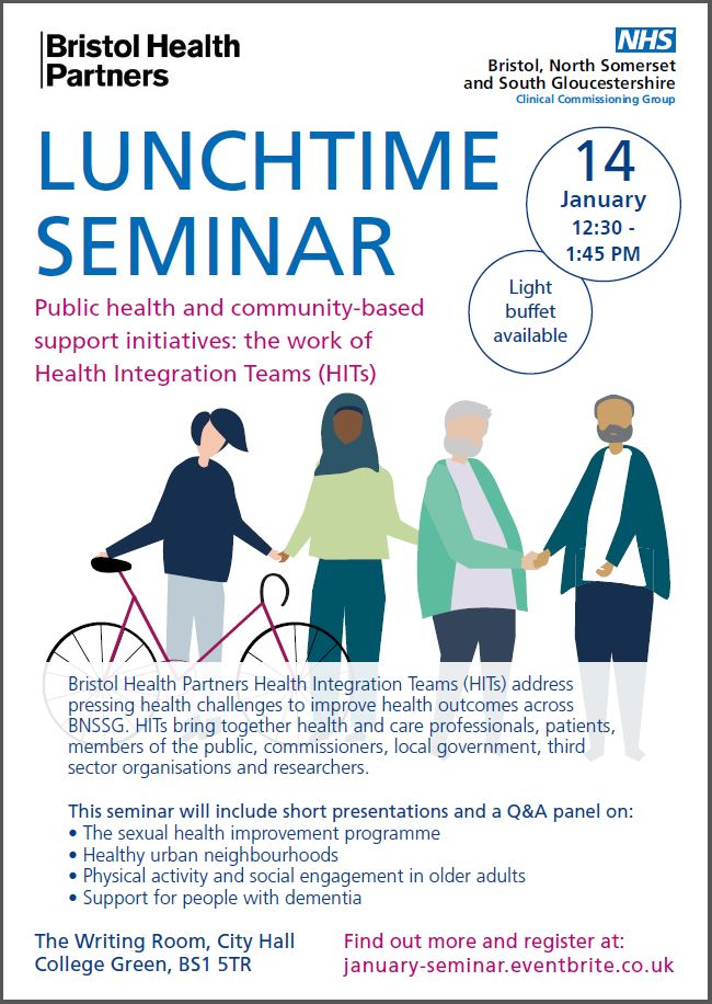 Lunchtime seminar, 12th January 12.30 - 1.45pm, City Hall Bristol, BS1 5TR
