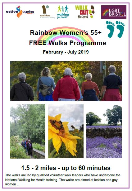 Over 55's lesbian and gay women's free walks programme