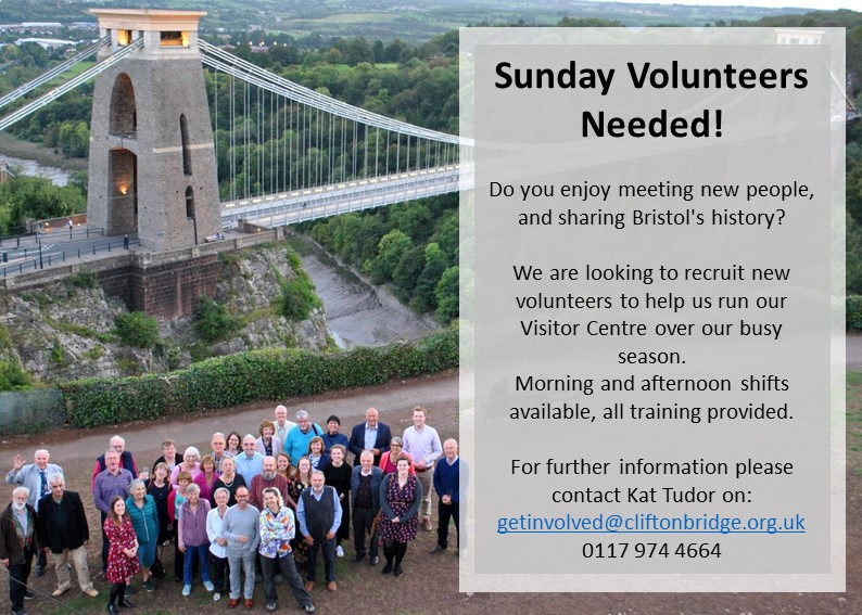 Sunday Volunteers needed to help run the Suspesion Bridge Visitor Centre