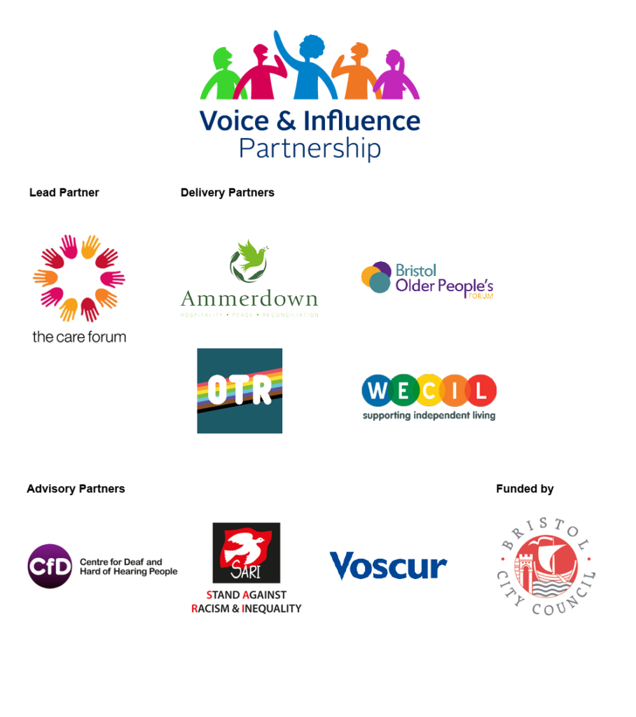 Voice and Influence Partnership logos